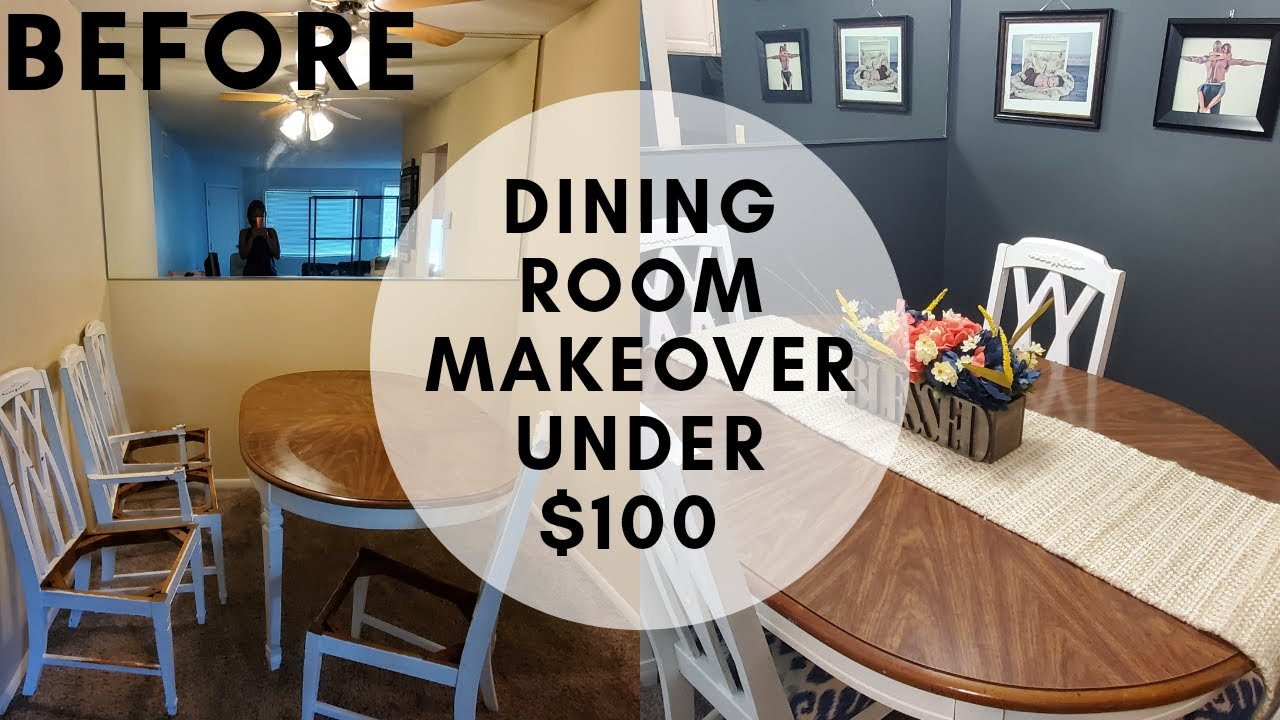 Small Dining Room Makeover Under 100 Diy Budget Friendly Decorating Ideas Youtube