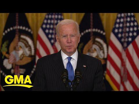 President Biden addresses mass shipping, supply chain issues