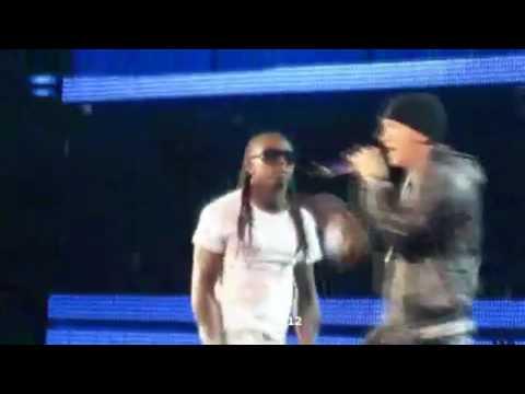 Eminem 2010 Grammy solo w lil wayne- Drop The World LIVE