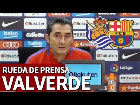 Real Sociedad-Barcelona | Rueda de prensa de Valverde | Diario AS