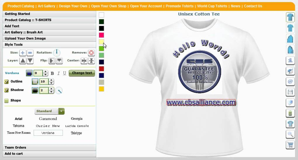 59078de2ee84 T Shirt Maker, T Shirt Designer, Online Design Maker, Designer Tool,  Software by CBSAlliance.com