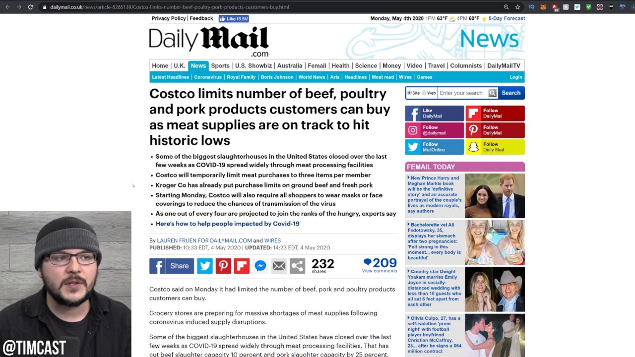 Food Shortages Get WORSE, Stores Beginning To ration Meat, Business May NEVER Reopen