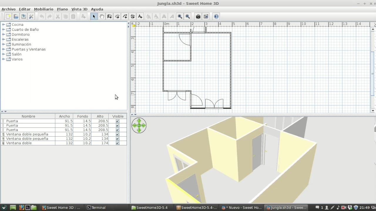 Instalacion en linux de Sweet Home 3D - YouTube
