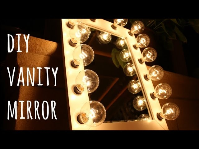 Diy Hollywood Vanity Mirror Only 100, Make Your Own Vanity Mirror With Lights