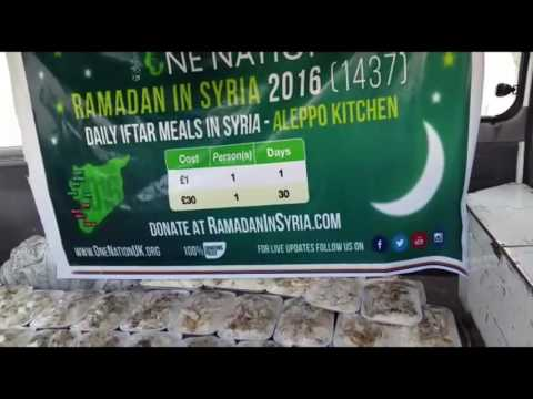 DAY 1 DAILY IFTAR MEALS IN SYRIA -  RAMADAN 2016