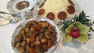 Turşu-qovurma plov  Azərbaycan mətbəxi.  Азербайджанская кухня - Туршу-говурма плов
