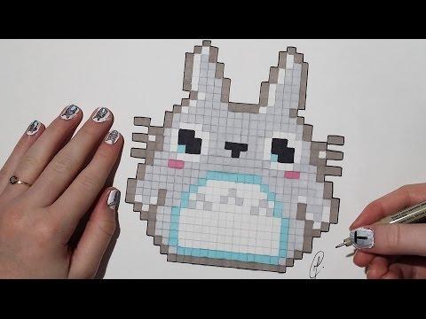 Pixel Art Kawaii Totoro Easy Youtube