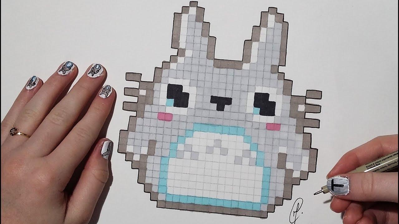 Pixel Art Kawaii Totoro Easy