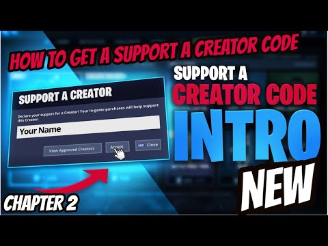 How To Get A Support A Creator Code In Chapter 2 Season 2.