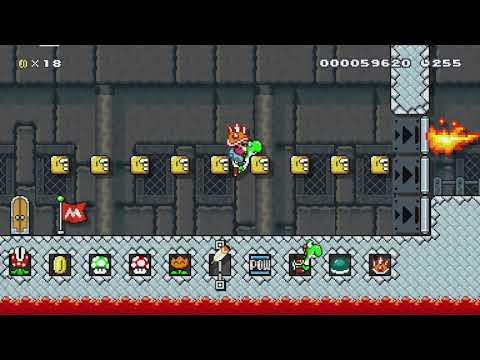 前に作ったボスラッシュ的な何かをイメージ重視にBossRush? by ジコチュウ - Super Mario Maker - No Commentary