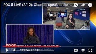 FOX 5 LIVE (2/12): Obamas speak at their Smithsonian portrait reveal; Lincoln