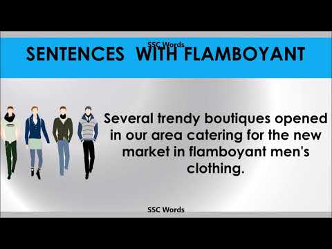 flamboyant---improve-english---meaning-and-5-sentences---gre-/-cat-/-gmat-word---ssc-words
