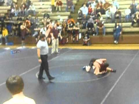 Dawson County Middle School's best wrestler against my son.