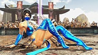 Kitana (Costume 1) Performs All Character Intros & Victory Celebrations on Courtyard (MKIX) PC