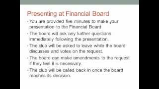 What to Expect at Financial Board