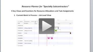 PlannerOne's Resource Planner for Subcontractors