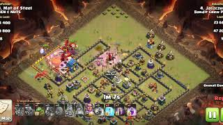 Dragons + bat spell, Th12 war attack