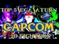 Top 5 Best Capcom Sega Saturn 2D Fighters  Street Fighter, X-Men vs Street Fighter, Darkstalkers