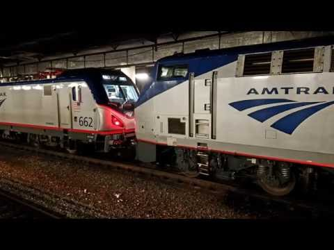 Amtrak and MBTA Rescue Trains in Boston and Providence Stations!!