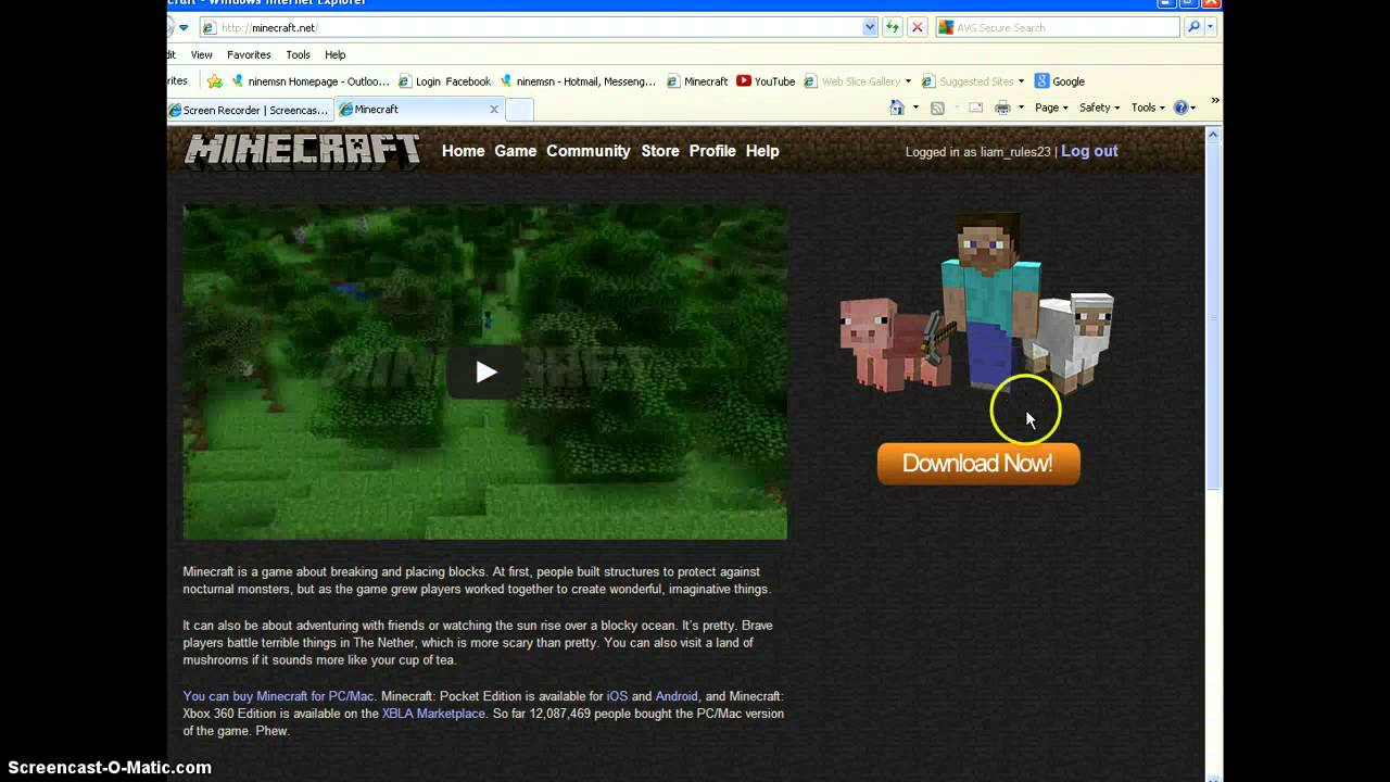 download minecraft on windows xp