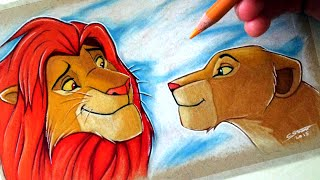 Drawing Simba and Nala from The Lion King - FAN ART FRIDAY