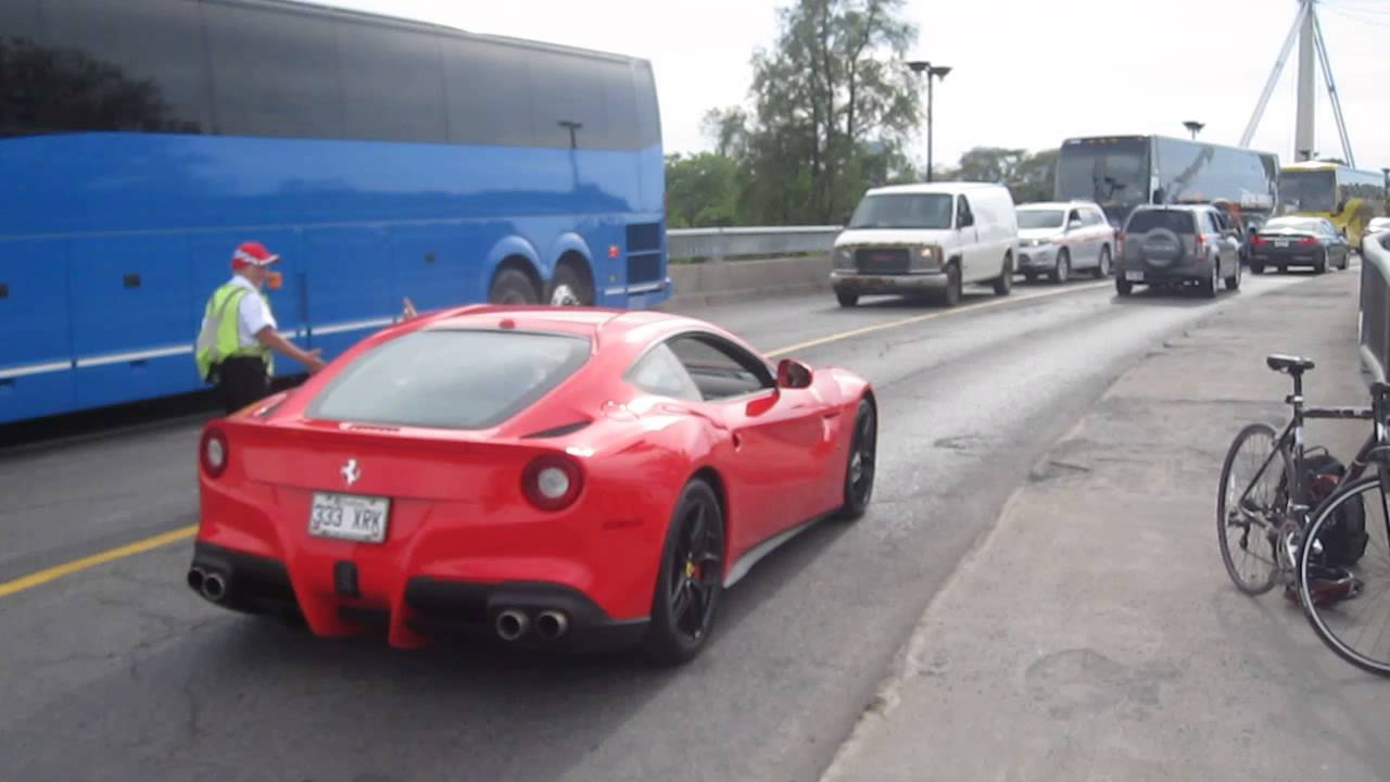 ferrari f12 berlinetta in casino during grand prix montreal youtube. Black Bedroom Furniture Sets. Home Design Ideas