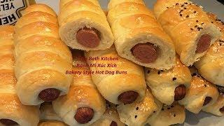 Cách làm Bánh Mì Xúc Xích mềm xốp thơm ngon không cần máy _ Cách làm Bánh Mì