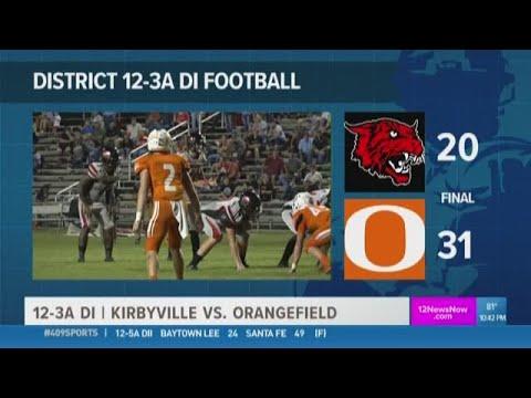 WEEK 6: Orangefield High School overtakes Kirbyville 31 - 20