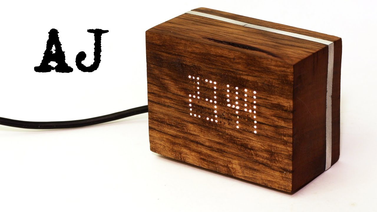 Making A Wooden Digital Clock Youtube For Beginners With 7segments Led And Rtc