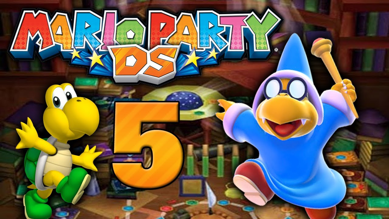 The mario party ds above told