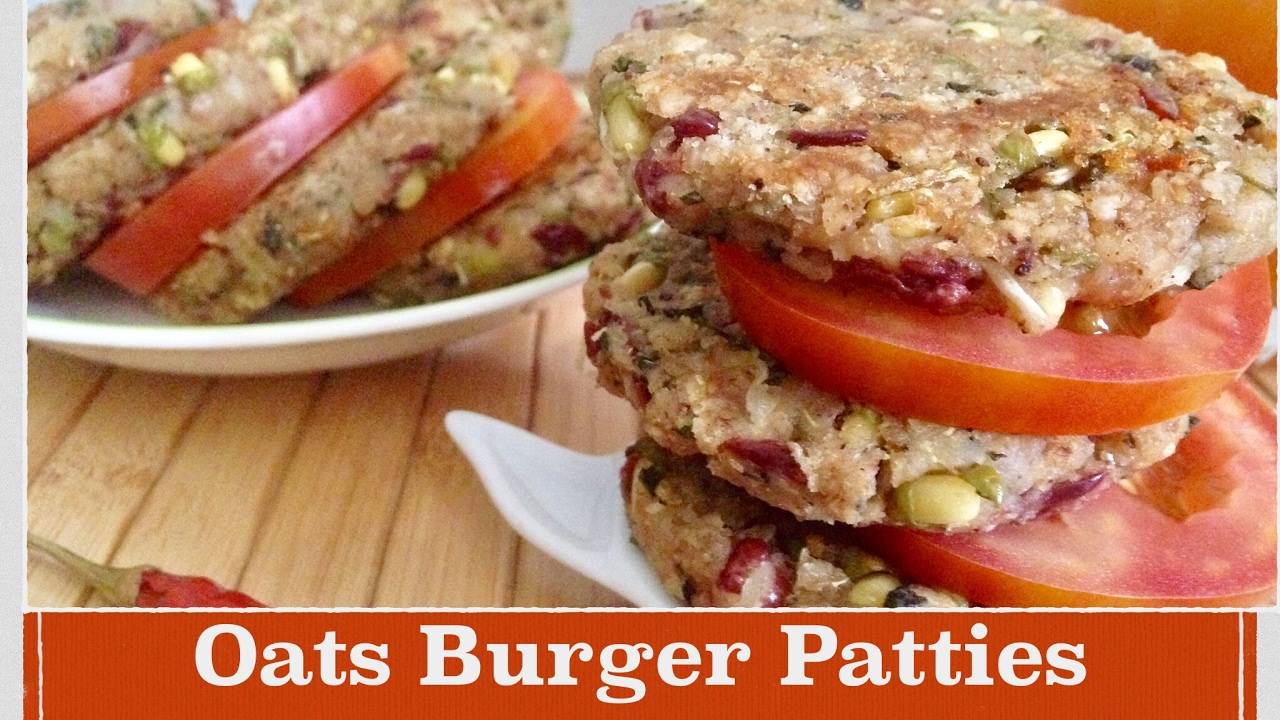 Oats Burger Patties Recipe How To Make Healthy Oats Black Beans Tikki Quick And Easy Breakfast Youtube