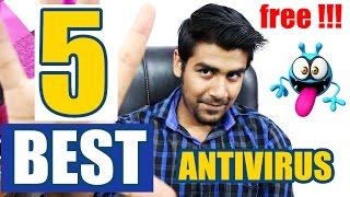 5 BEST FREE ANTIVIRUS FOR WINDOWS 2017 | पांच सबसे अच्छे एंटीवायरस