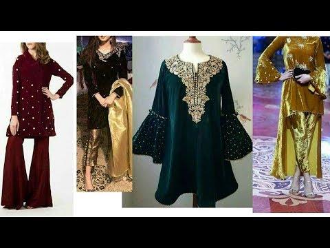 25126a0514 Velvet dress designs for Winter season 2017-18/ Dress designs 2018/dress  designs for brides