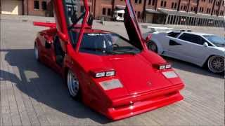 "These are displayed little swap meet ""super car meeting 2013"" in Yo..."