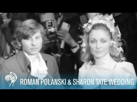 Roman Polanski and Sharon Tate Wedding, 1968 London