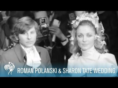Roman Polanski & Sharon Tate: A Star Studded London Wedding (1968) | British Pathé