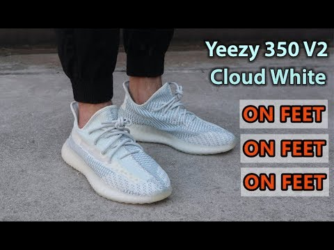 Adidas Yeezy 350 v2 Cloud White Review & On Feet | Is The