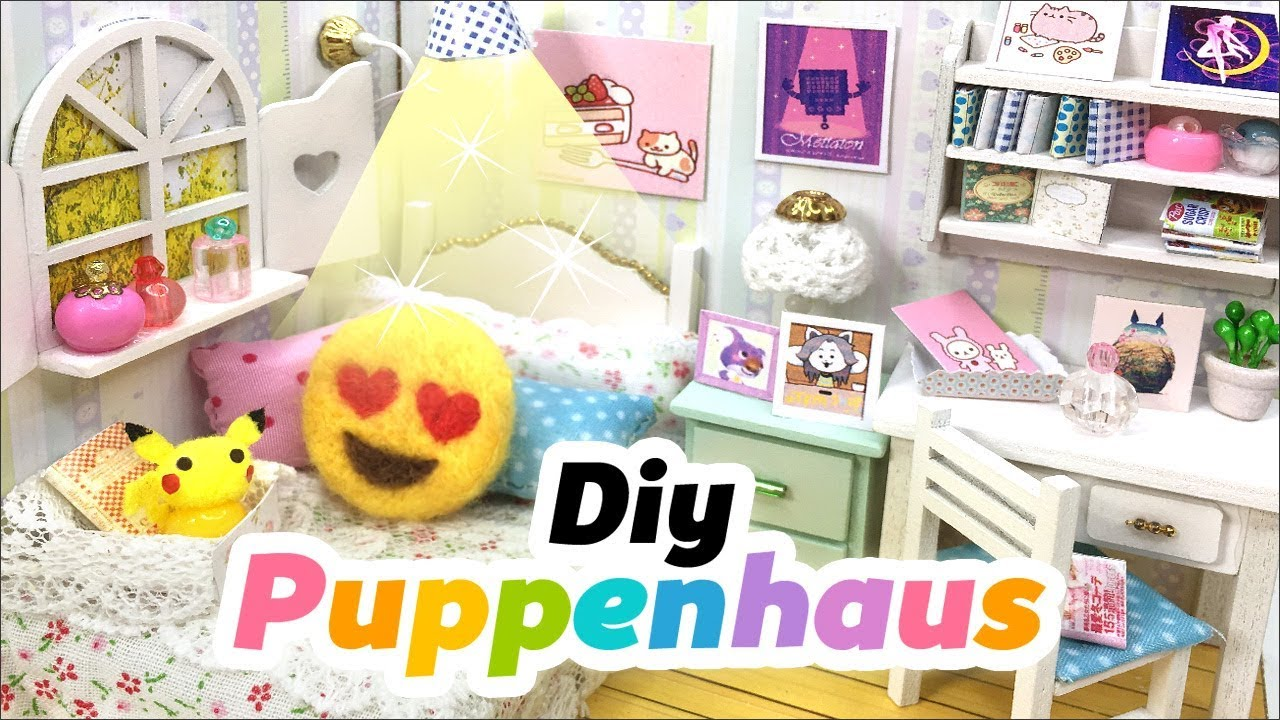 diy puppenhaus emoji polster basteln dekoration. Black Bedroom Furniture Sets. Home Design Ideas
