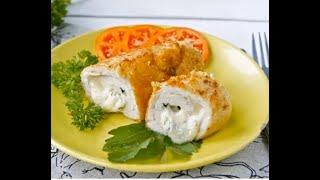 КУРИНЫЙ РУЛЕТ с начинкой из сыра Рецепт от любителя