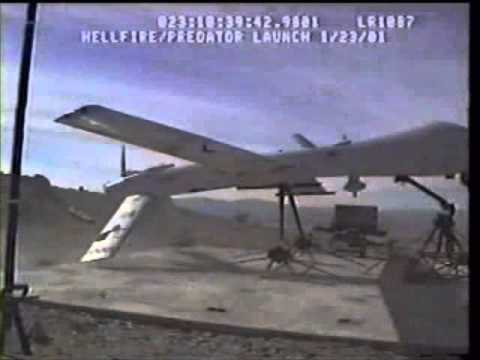 First Succesful Launch Of Hellfire Missile From A Predator Drone