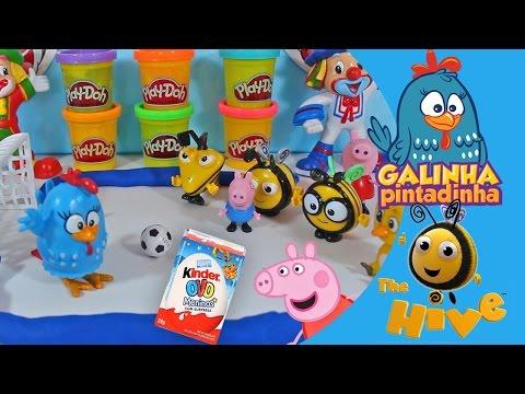 COMPILAÇÃO Colméia Feliz The Hive Buzzbee Peppa Pig Pintinho Amarelinho Patati Patatá Brinquedos