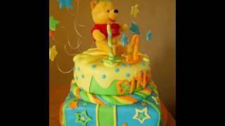 pooh 1st bday cake