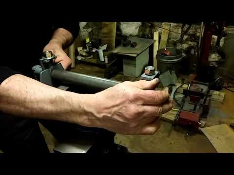 Homebuilt sheet metal slip roller