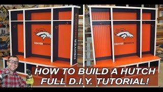 How To Build A Bedroom Hutch Or Mudroom Hutch With Diy Pete