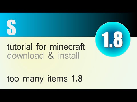 TOO MANY ITEMS MOD 1.8 minecraft - how to download and install [TMI] (with forge)