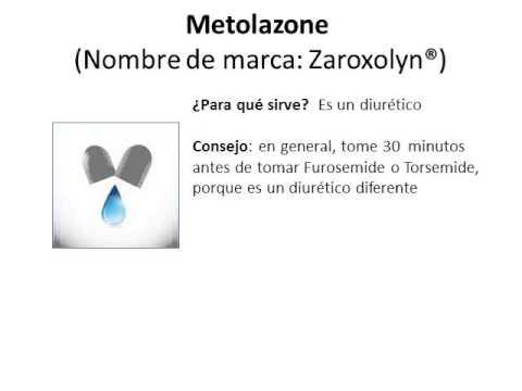 Metolazone - Spanish