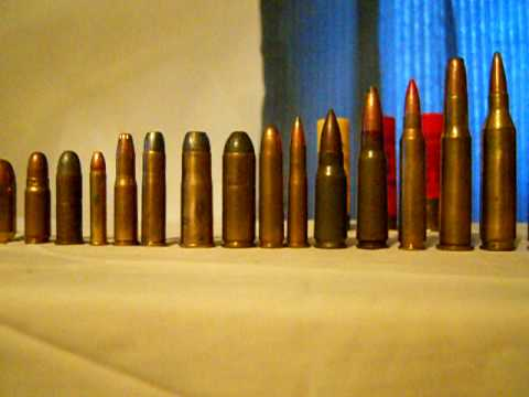 Comparison of ammo from .22 to .50 Cal.
