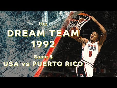 "Dream Team 1992: ""Return to Olympus""/ Game 5/ USA vs PUERTO RICO/ FULL GAME HIGHLIGHTS"