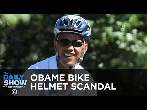 Today in Obama Scandal History: The Bike Helmet | The Daily Show thumbnail