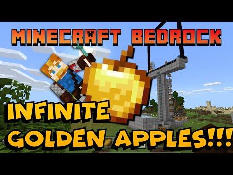 INFINITE GOLDEN APPLES and XP FARM!!!: Minecraft Bedrock 1.16